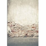7x5ft Broken Brick Wall Ruins Theme Vinyl Photography Background Backdrop Prop for Studio Photo