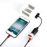 Autolader Conversie Kabel Batterij USB Poort opladen naar Afstandsbediening Telefoon voor DJI Phantom 4