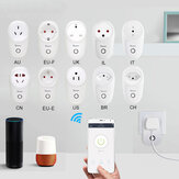 SONOFF® S26 10A AC90V-250V Smart WIFI Socket CN / US / UK / AU / DE / FR / BR / CH / IL / IT Wireless Plug Soket Daya Smart Home Switch Bekerja Dengan Alexa Google Assistant IFTTT