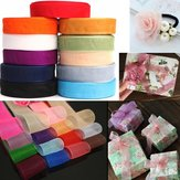 50 Yard 25mm Transparante Organza Ribbon Wedding Party DIY Decoratie