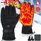 USB Powered 3-Gear Temperature Control Winter Warm Waterproof Windproof Outdoors Motorcycle Riding Heated Gloves