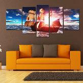 5قطعUframedالغروبالحديثةالفن قماش اللوحات الزيتية طباعة الصور جدار ديكور المنزل