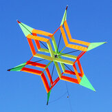 3D Colorful Flower Kite Single Line al aire libre deportes Toy Light Wind Flying Kids