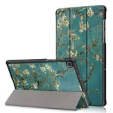 Tri-Fold Pringting Tablet Case Cover for Lenovo Tab M10 Plus Tablet - Apricot Blossom Version