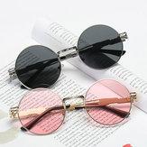 Damen UV400 Schutz Sonnenbrille Cause Vintage Dampf Punk Runde Brillen