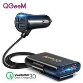 QGEEM CH12 QC 3.0 4 Segurança do carregador de carro USB Hammer LED Indicador Adaptador de carregamento rápido para iPhone XS 11Pro Mi 9 Nota 9S S20 + Nota 20