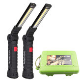 [Built-in 18650 Battery] XANES COB LED Multi Function Folding Work Light Set USB Rechargeable LED Flashlight USB Cable Car Charger Battery Charger