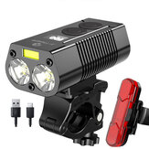 750LM Bike Headlight USB Rechargeable Waterproof Bicycle Front Lamp Power Bank Bike Light Outdoor Cycling Accessories
