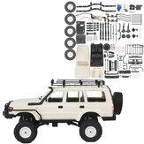 WPL CB05S-1 LC80 1/16 4WD OFF Road RC autós készlet tetőcsomagtartóval ellátott járműmodellek