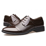 Men Leather Formal Business Lace Up Oxfords Shoes