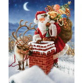 40x30cm 5D Diamantmaleri DIY Santa Far Xmas Cross Stitch Broderi