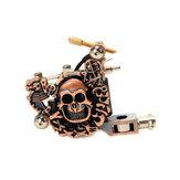 OCOOCOO K100 Baixo nível de ruído Caveira Metal Tatuagem Metralhadora 10 Warps Bobinas 7000-9000 R / Minuto Bronze Roxo