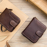 Bullcaptain Men Cuero Wallet 19 Card Card Holder Coin Bolsa