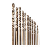 Drillpro 13pcs 1.5-6.5mm HSS-Co M35 Cobalt Twist Drill Bit Set for Metal Wood Drilling