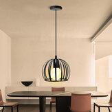 E27 O Shape Pingente Suporte da lâmpada Industrial Ferro Retro Lâmpada suspensa no teto Restaurante Sala de jantar