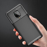 Bakeey Luxury Carbon Fiber Pattern Shockproof Silicone Protective Case for Xiaomi Redmi Note 9S / Redmi Note 9 Pro / Redmi Note 9 Pro Max Non-original
