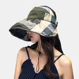 Sun Hat Covering Face Folding Empty Top Hat Cycling Big Eaves Floppy Hat