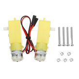 KittenBot 2Pcs 5V 200RPM TT Motor Geared Motor for Smart Robot DIY Part