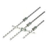 2-delige set van 250/300/500/550 mm MGN12 miniatuur lineaire geleider met MGN12 H anti-drop Bead Slider CNC-onderdelen