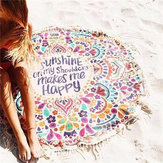 150cm Cotton Bohemia Round Beach Yoga Towel Mandala Bed Sheet Tapestry Tablecloth Decor
