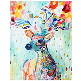 DIY Diamond Painted Deer Diamond Wall Painting Bedthroom Home Hanging Drawing Decoration for Adult Kids