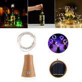Solar Powered 8LEDs Cork Shaped Silver Wire Butelka wina Fairy String Light na Christmas Party