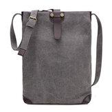 Women Men Retro Canvas Shoulder Bags Belt Crossbody Bags Simple Messenger Bags