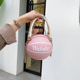 Women Basketball Chains Casual PU Handbag Crossbody Bag