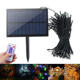 solare Powered Dimmable 17M 8 modalità Timer 100 LED Fairy String Light Decor natalizio remoto Control
