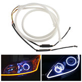 85cm Flexible LED Soft Tube Guide Light Car White DRL Strip Amber Turn Signal Lamps 2PCS
