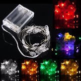 2M 20 LED Skull Style Battery Operated Xmas String Fairy Lights Party Wedding Christmas Decor