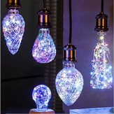 E27 3W Vintage Edison LED  Multi-color Holiday Democratic Light Bulb For Party Christmas AC85-265V