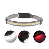 XANES® YD-33 COB + farol LED USB recarregável lanterna frontal para ciclismo corrida camping pesca reparação de automóveis
