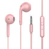 TOPK F17 Wired Headphones Stereo Super Bass Dynamic Driver HD In-Ear Headset 3.5mm Macaron Sports Earphone with Mic