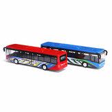 L'alliage rouge / bleu de 15cm tirent en arrière le modèle de voiture de jouets d'autobus pour des enfants