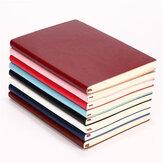 1PCS Soft غطاء بو الجلود مفكرة الكتابة مجلة 100 صفحة يوميات كتاب لمكتب مدرسة الاستخدام