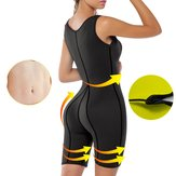 Women Neoprene Sauna Suit Full Body Shaper Ultra Sweat Fitness Yoga Bodysuit
