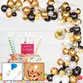 120pcs DIY Retro Gold Balloon Garland Arch Kit Chrome Gold Ballon for Birthday Baby Shower Weddings Party Decoration