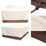 ProtetorUVdaprovadachuva da poeira da tabela exterior impermeável do Rattan da tampa da mobília do pátio do jardim