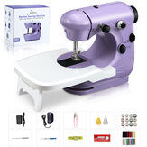 JETEVEN Electric Sewing Machine 2-speed 2-Thread Portable Mini Sewing Machine with Expansion Desk