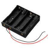 Plastique Batterie Support de boîte de rangement pour 4 x 18650 Batterie