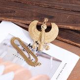 Acero inoxidable Horus Colgante Collar de hombre Colgante Oro