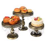 3 Шт. / Компл. Crystal Cake Стенд Дисплей Стойка Кекс Десерт Башня Свадебное Декор