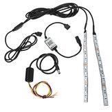 2шт 20см гибкий RGB 12-светодиодный Demon Angel Eyes Lights Набор 5W 12V Phone APP Control для 2.5