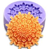 3D Mini Peony Molho de Fondant Bolo de Silicone Moldes de Chocolate Bolo Decoração Ferramenta de cozimento