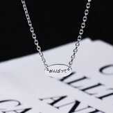 SHENLIN S925 Sterling Silver Necklace Simple Necklace Collarbone Chain Personality Lovers Pendant Necklace