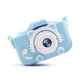 ミニキッズデジタルカメラUSB充電20インチ20MPPixel子供の誕生日プレゼント用の小型DSLRモーションカメラ玩具