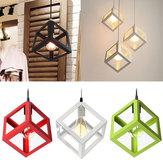 Luz de teto lustre lustres luminárias lâmpada bar restaurante do hotel E27 moderno Cube metal