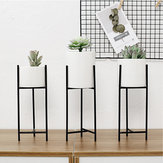 Black Metal Rack Ceramic Succulent Plant Pot Flower Planter Garden Home Decor Decorative Hardware
