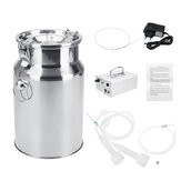 7L Bucket Electric Cow Milking Machine Sheep Goat Milker Portable Vacuum Pump